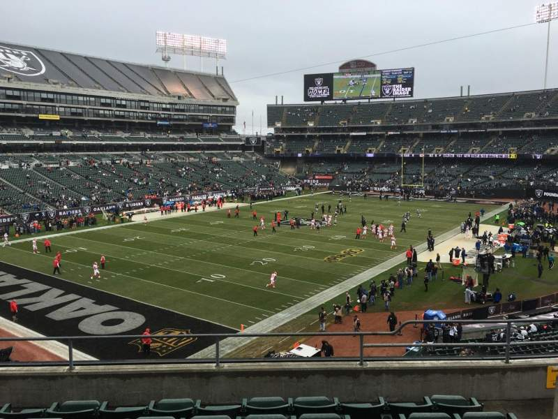 Seating view for Oakland Alameda Coliseum Section 224 Row 14 Seat 7