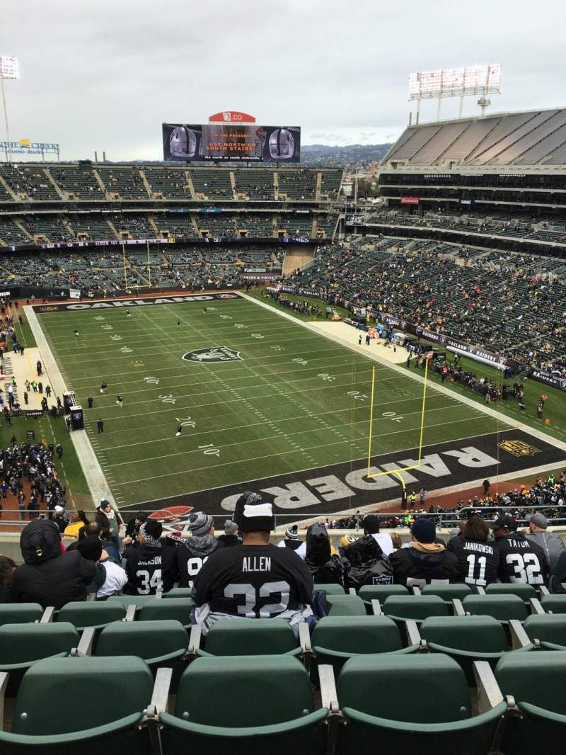 Seating view for Oakland Alameda Coliseum Section 308 Row 16 Seat 10