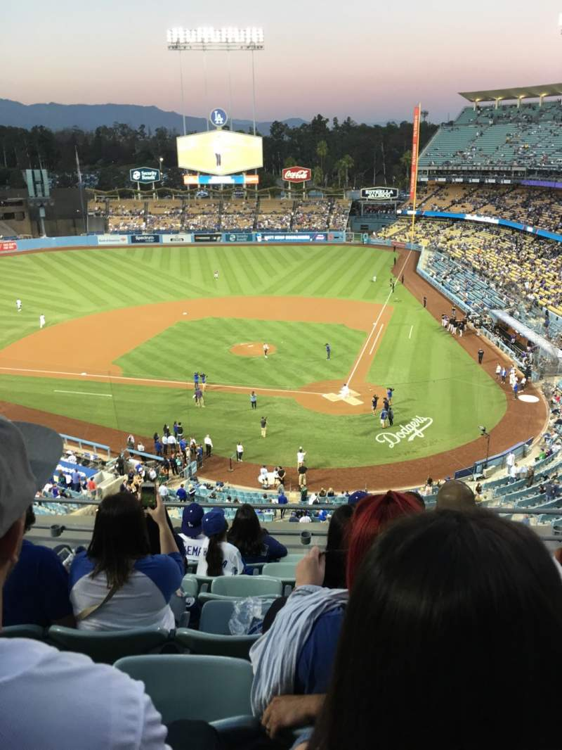 Seating view for Dodger Stadium Section 7td Row G Seat 13