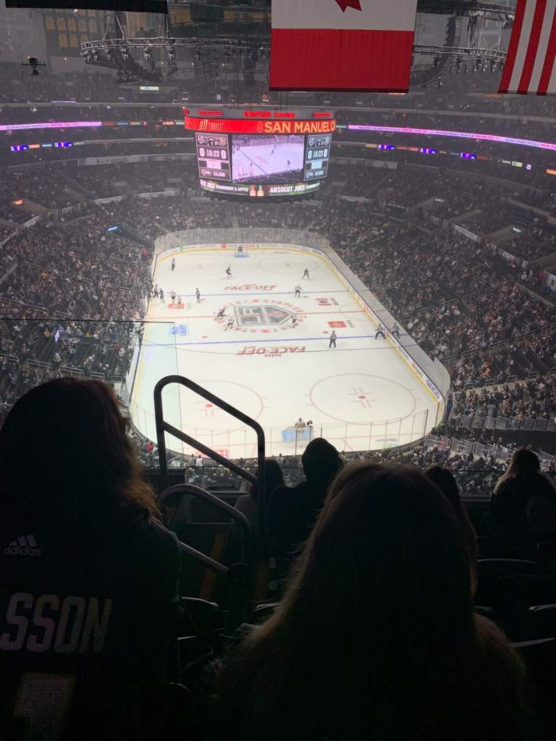 Seating view for Staples Center Section 327 Row 5 Seat 11