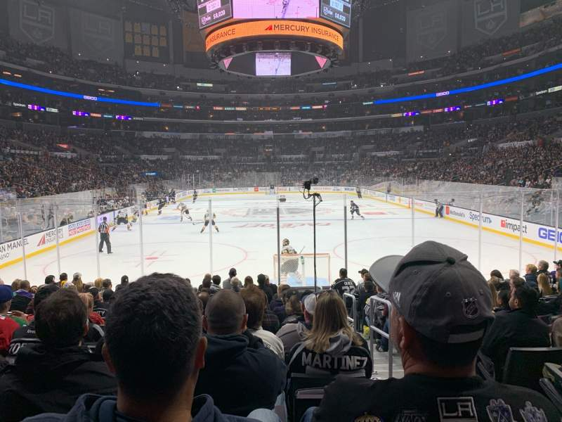 Seating view for Staples Center Section 106 Row 8 Seat 3