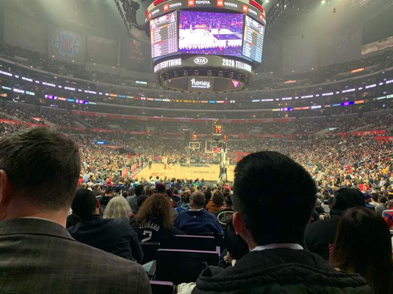 Seating view for Staples Center Section 116 Row 10 Seat 6