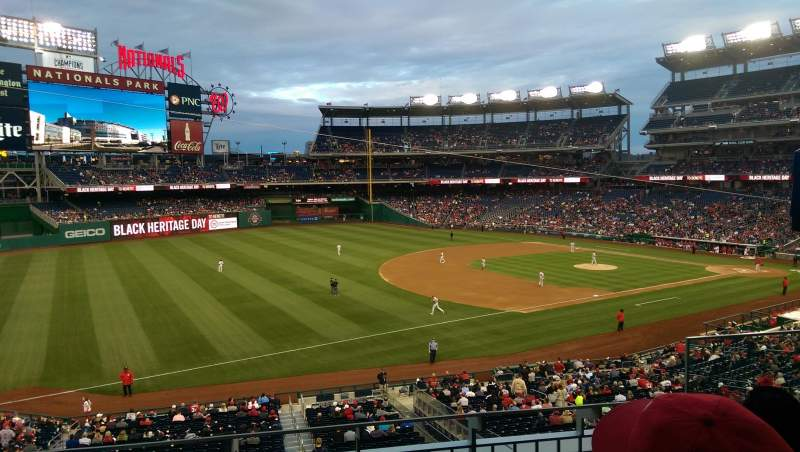 Seating view for Nationals Park Section 204 Row C Seat 4