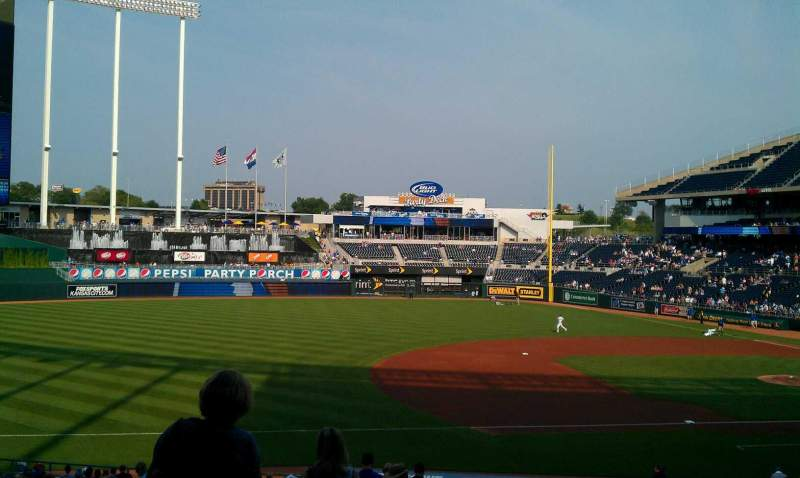 Seating view for Kauffman Stadium Section 217 Row kk Seat 2