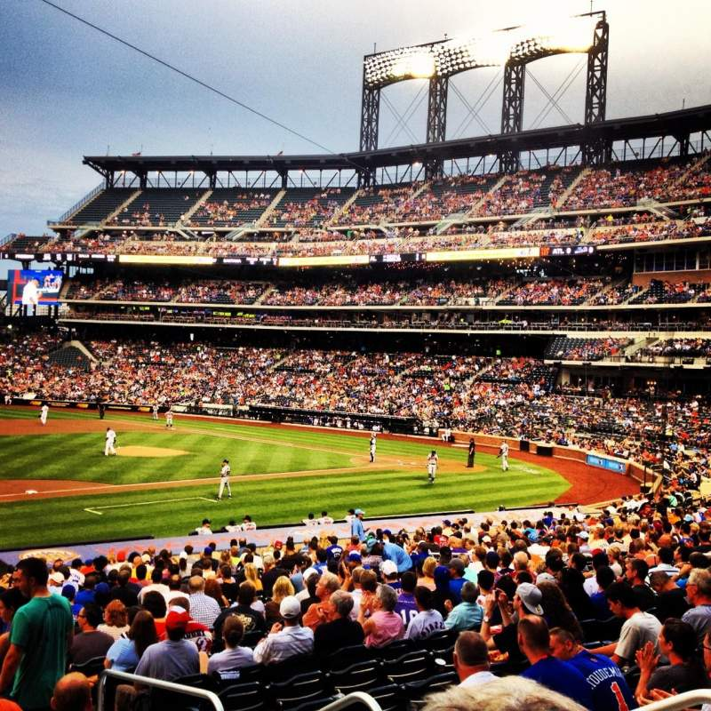 Citi field section 124 row 24 seat 10 mets vs braves shared by seating view for citi field section 124 row 24 seat 10 altavistaventures Image collections