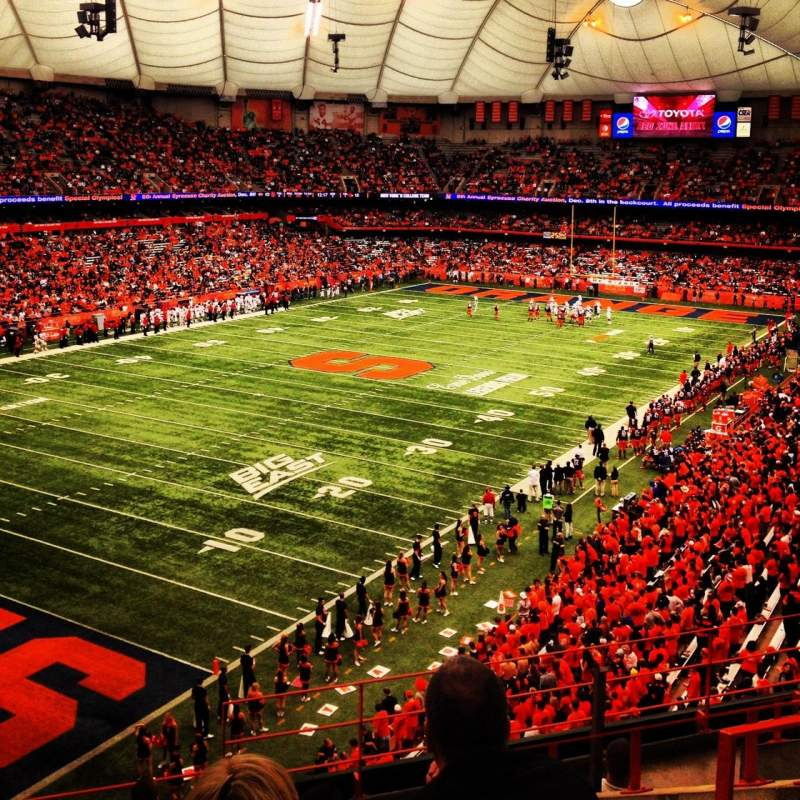 Seating view for Carrier Dome Section 306 Row I Seat 10