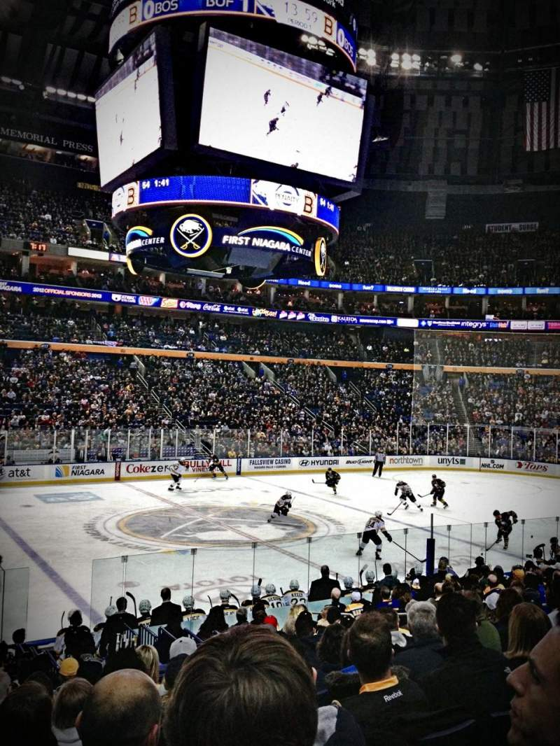 Seating view for KeyBank Center Section 106 Row 16 Seat 13