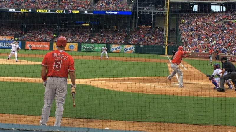 Seating view for Globe Life Park in Arlington Section 22 Row 2 Seat 1