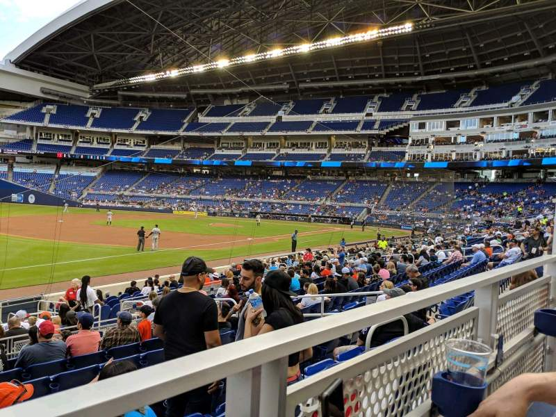 Seating view for Marlins Park Section 24 Row 1 Seat 7