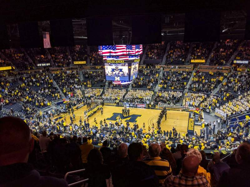 Seating view for Crisler Center Section 203 Row 36 Seat 11