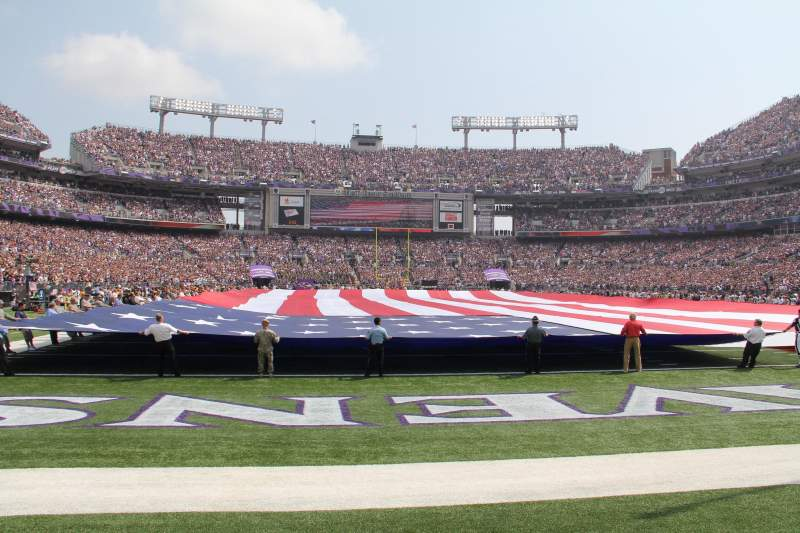 Seating view for M&T Bank Stadium Section 141 Row 1 Seat 12