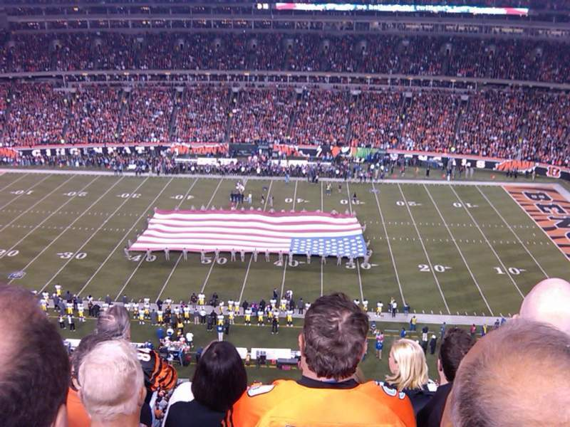 Seating view for Paul Brown Stadium Section 339 Row 5 Seat 11