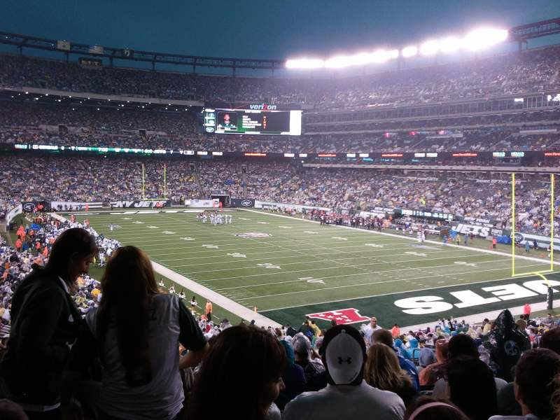 Seating view for MetLife Stadium Section 106 Row 41 Seat 5