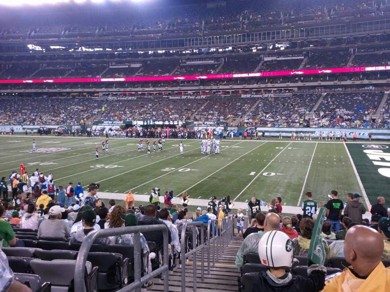 Seating view for MetLife Stadium Section 110 Row 11 Seat 11