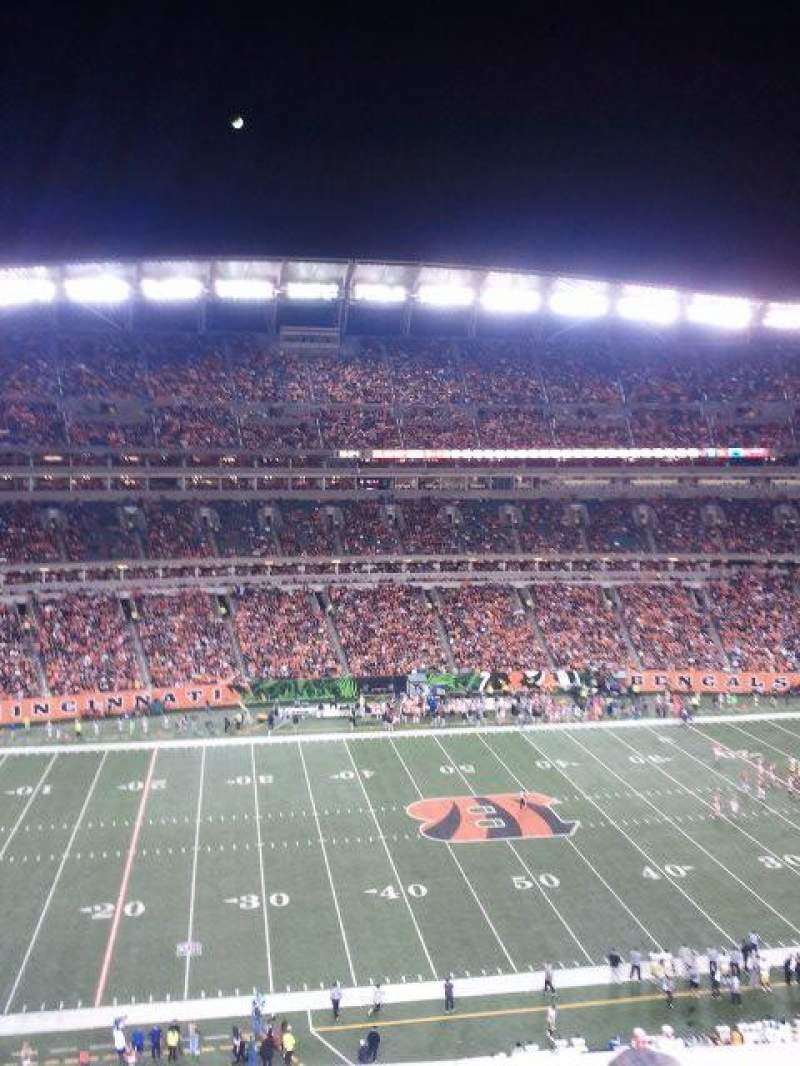 Seating view for Paul Brown Stadium Section 342 Row 1 Seat 4