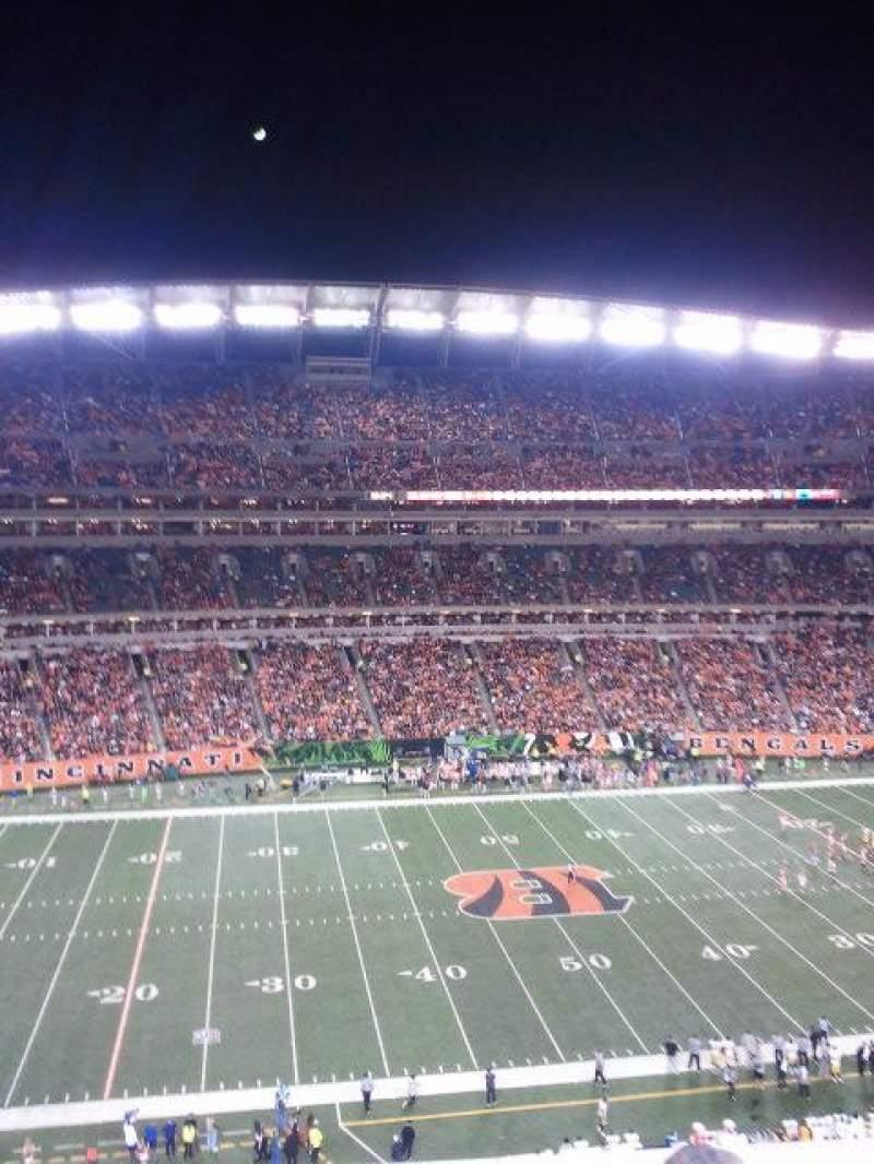 Paul Brown Stadium, section: 342, row: 1, seat: 4