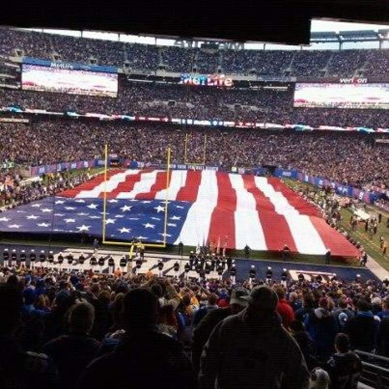 Seating view for MetLife Stadium Section 101 Row 45 Seat 3