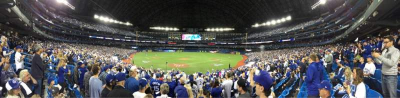 Seating view for Rogers Centre Section 121R Row 24 Seat 11