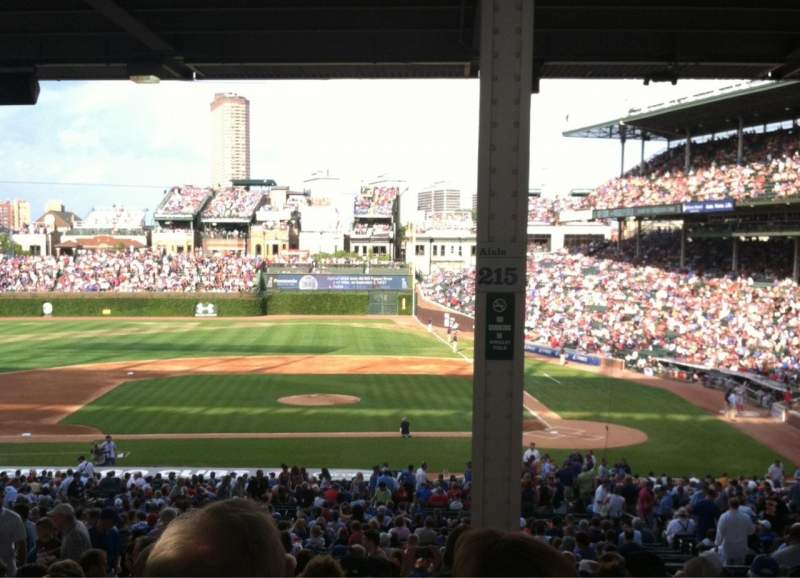Seating view for Wrigley Field Section 215 Row 15 Seat 8