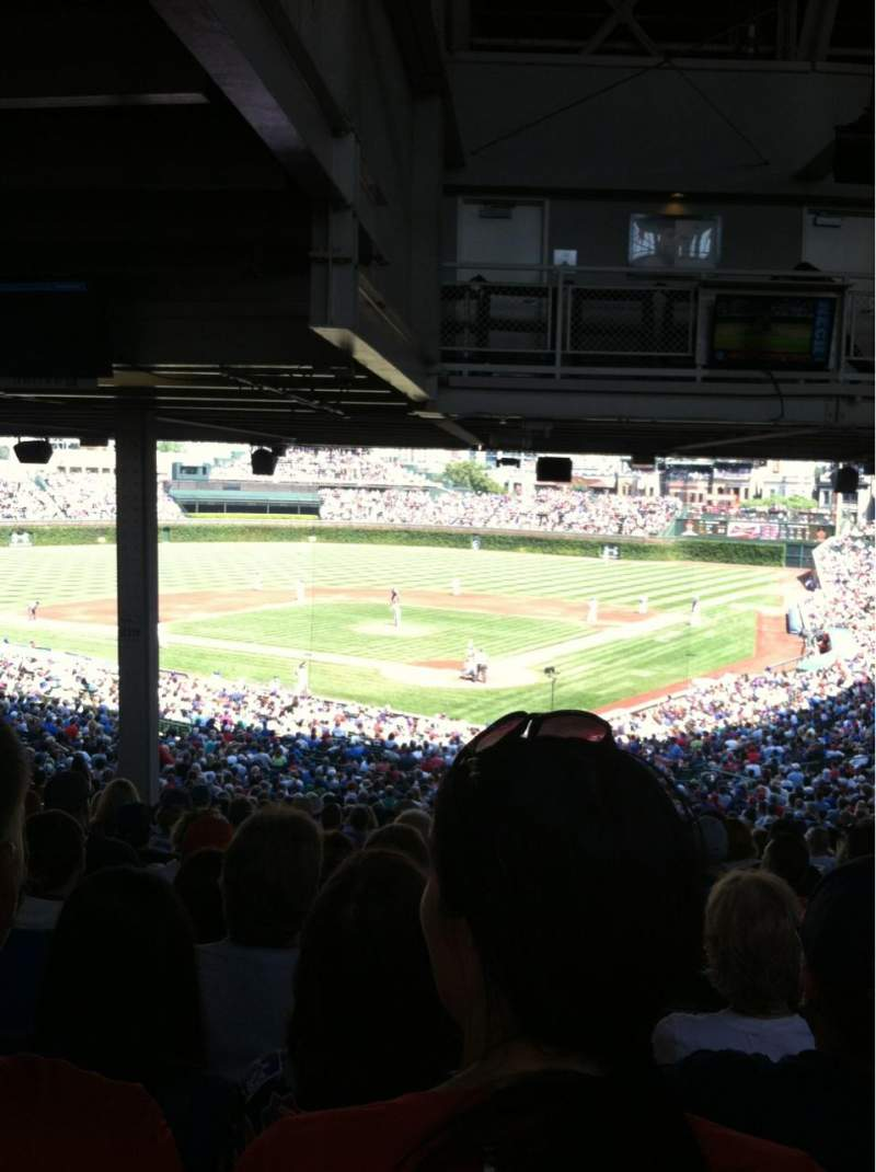 Seating view for Wrigley field Section 219 Row 22 Seat 13