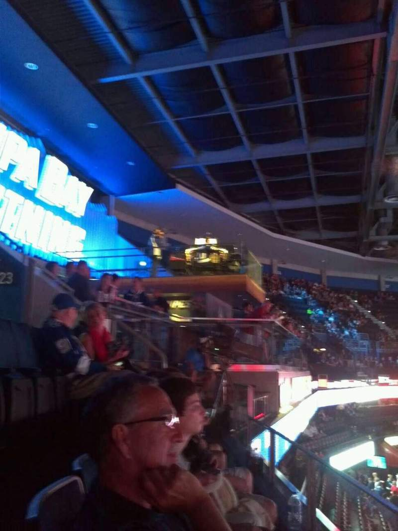Seating view for Amalie Arena Section 322 Row A Seat 7