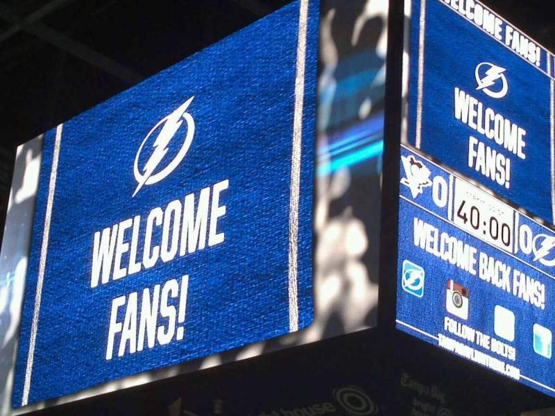 Seating view for Amalie Arena Section 129 Row G Seat 14