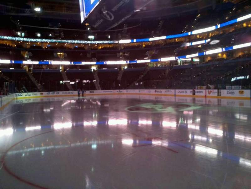 Seating view for Amalie Arena Section 128 Row A Seat 12