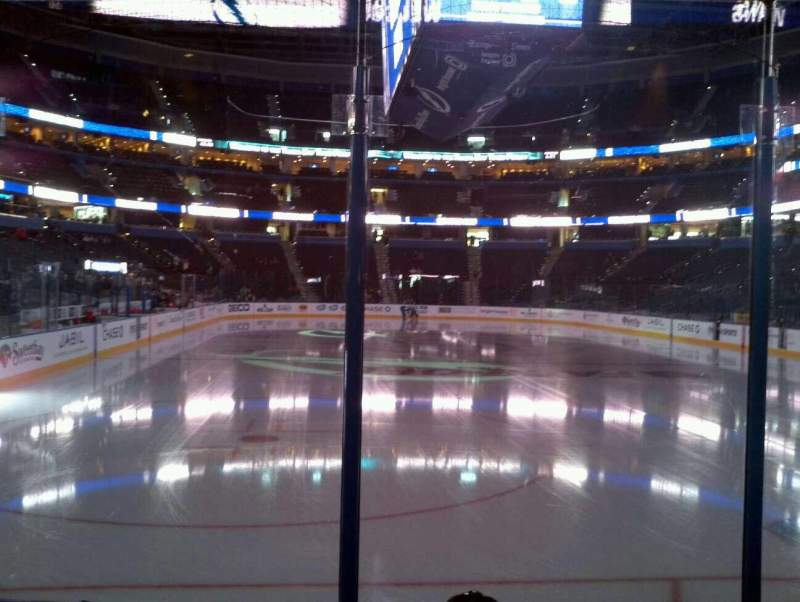 Seating view for Amalie Arena Section 124 Row C Seat 7