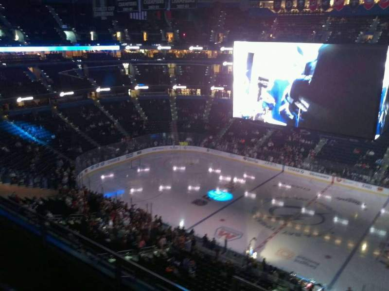 Seating view for Amalie Arena Section 329 Row C Seat 11