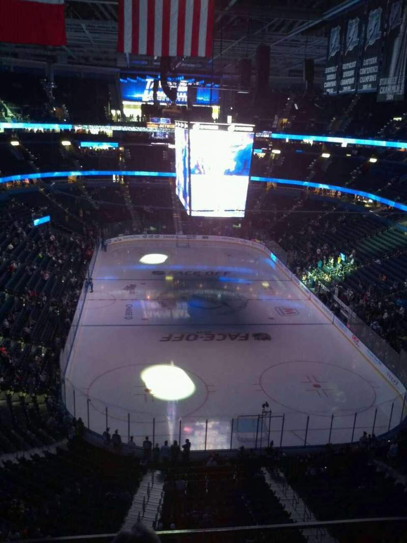 Seating view for Amalie Arena Section 309 Row C Seat 11