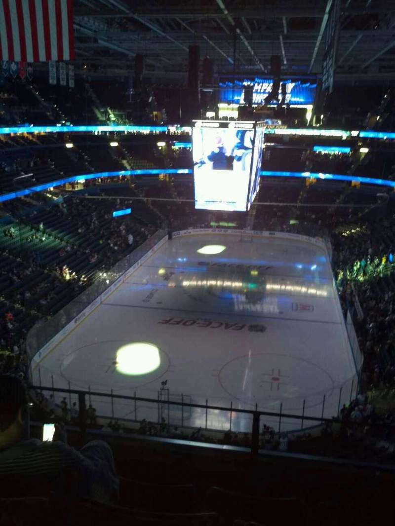 Seating view for Amalie Arena Section 308 Row C Seat 12