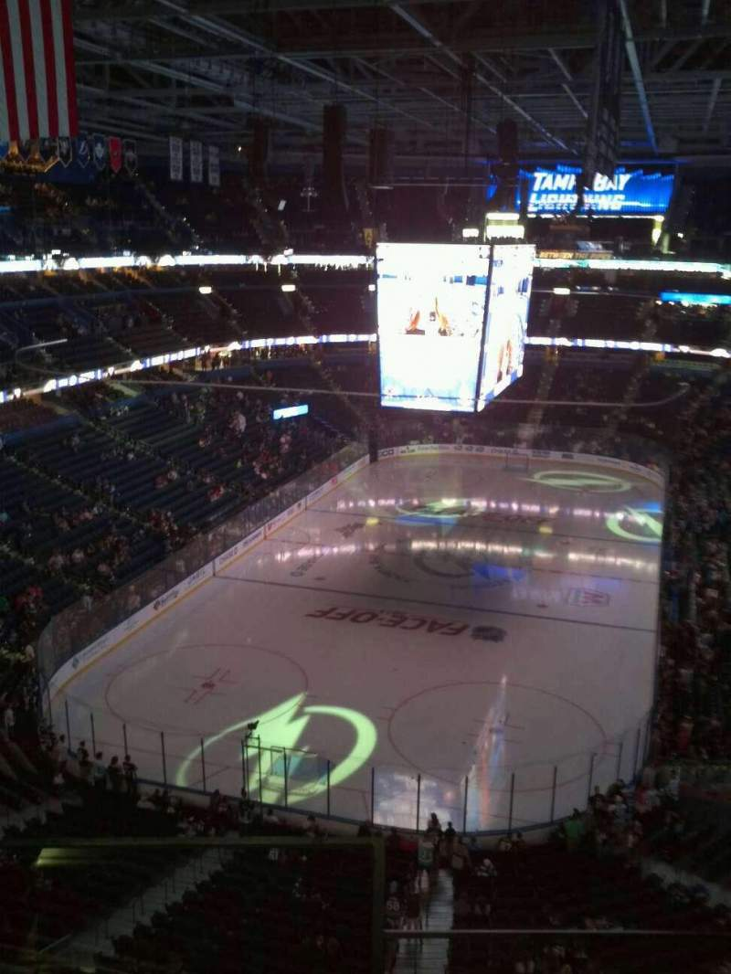 Seating view for Amalie Arena Section 307 Row C Seat 12