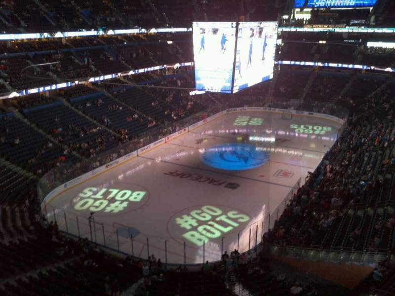 Seating view for Amalie Arena Section 306 Row C Seat 9