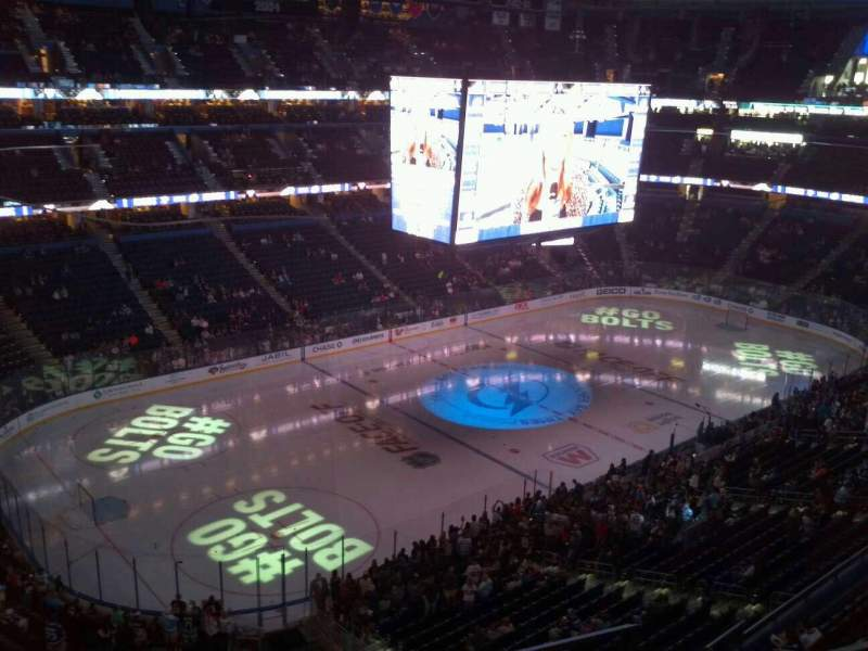 Seating view for Amalie Arena Section 305 Row C Seat 9