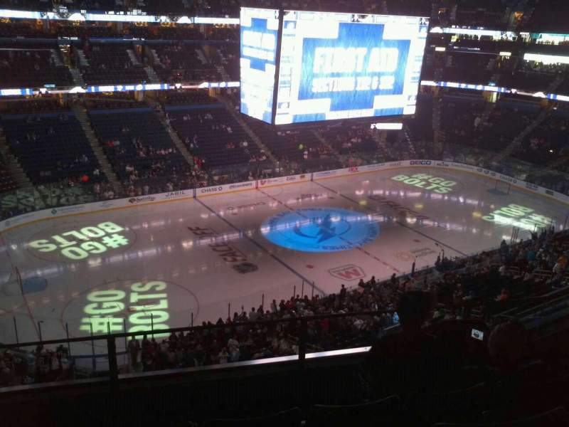 Seating view for Amalie Arena Section 304 Row A Seat 4