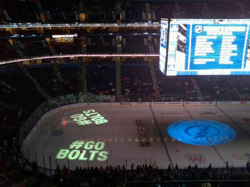 Seating view for Amalie Arena Section 303 Row C Seat 14