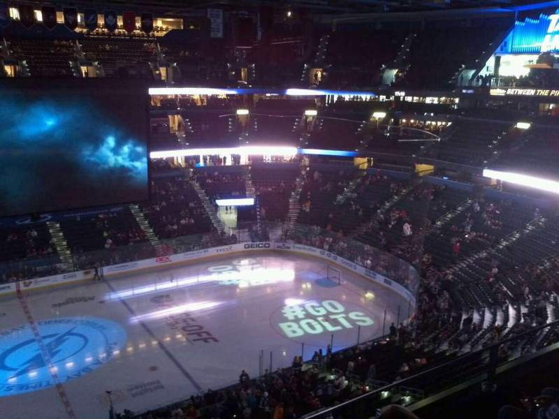 Seating view for Amalie Arena Section 301 Row C Seat 12