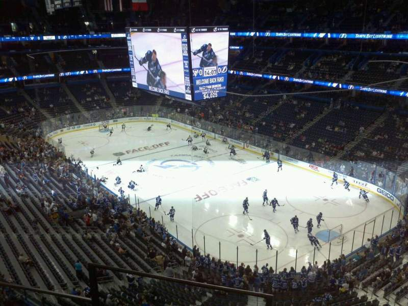 Seating view for Amalie Arena Section 326 Row C Seat 18
