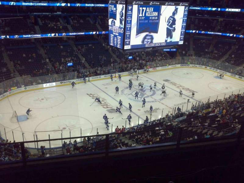 Seating view for Amalie Arena Section 319 Handicapped Accessible Row A Seat 1