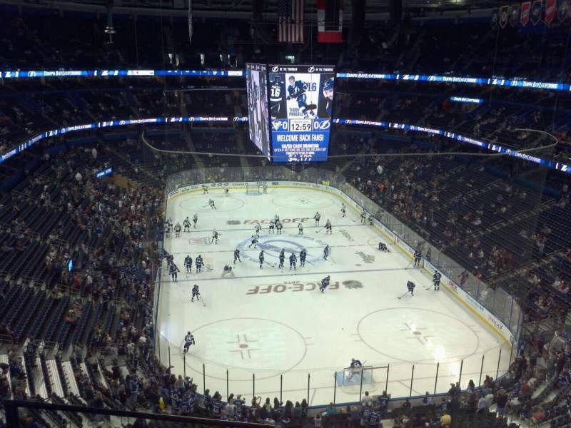 Seating view for Amalie Arena Section 325 Row C Seat 12