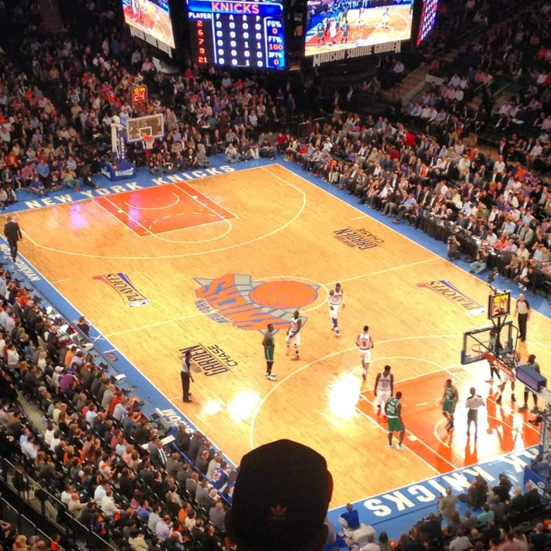 Seating view for Madison Square Garden Section West balcony Row BS3 Seat 9