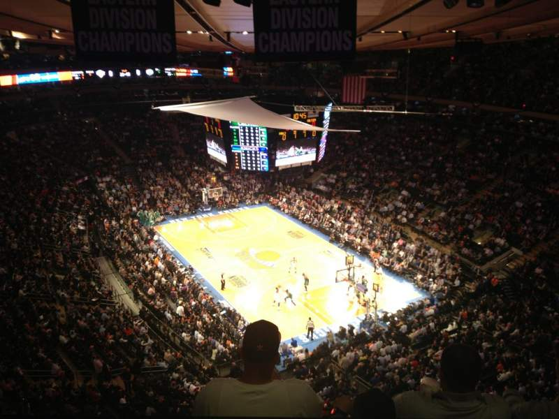 Madison Square Garden Section West Balcony Row Bs3 Seat 9 Home Of New York Rangers New York