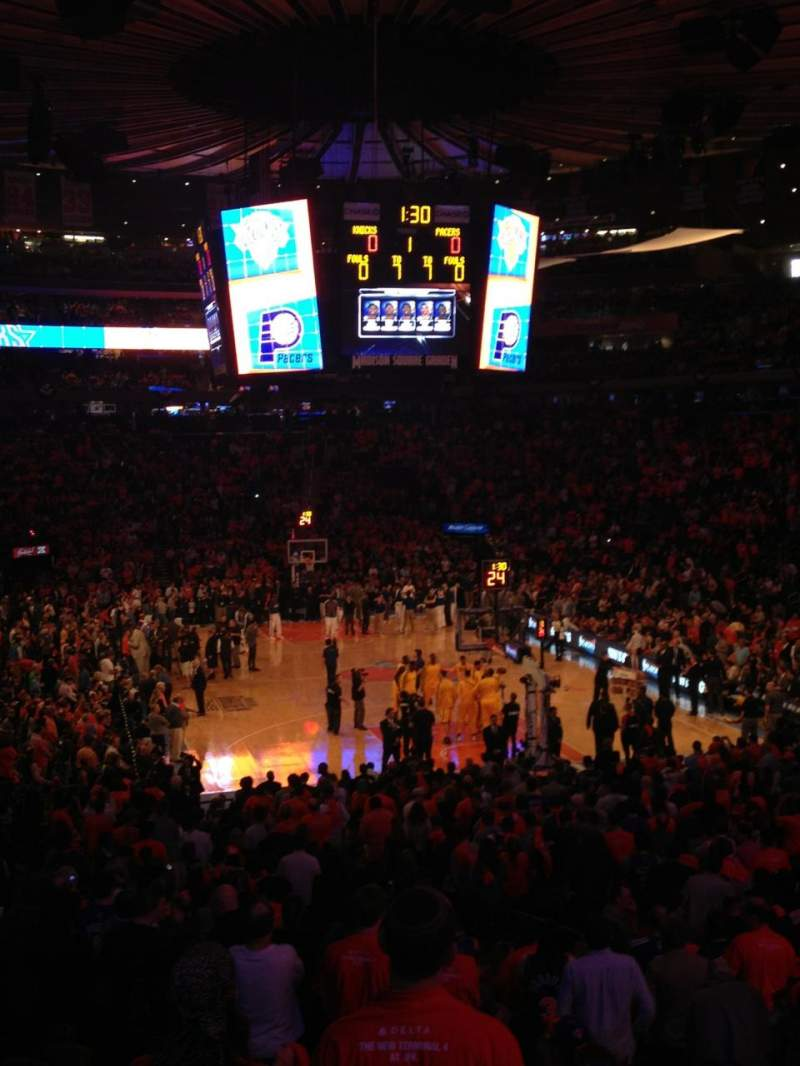 Seating view for Madison Square Garden Section 101 Row 19 Seat 19