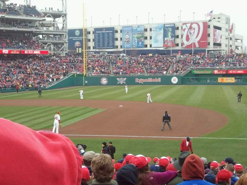 Seating view for Nationals Park Section 131 Row BB Seat 11
