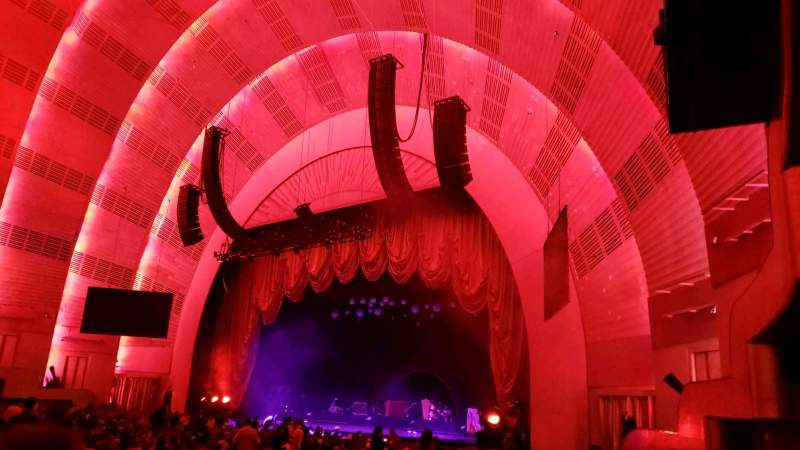 Seating view for Radio City Music Hall Section Orchestra 1 Row E Seat 104