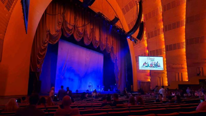 Seating view for Radio City Music Hall Section Orchestra 7 Row RR Seat 701