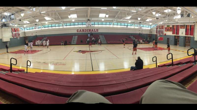 Seating view for Mark Amatucci Court at Calvert Hall College High S Section 3 Row 9