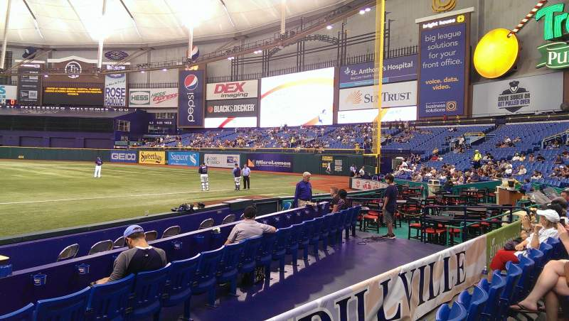 Seating view for Tropicana Field Section 128 Row J Seat 4