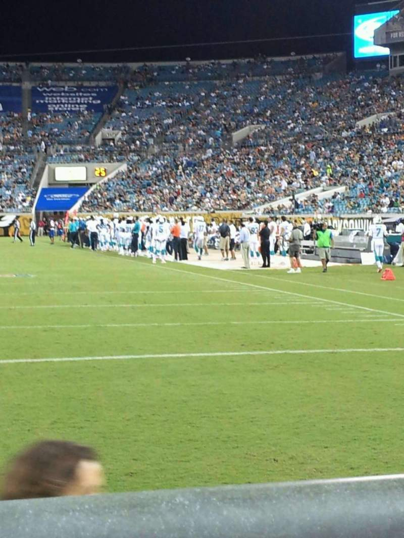Seating view for EverBank Field Section 147 Row A Seat 8