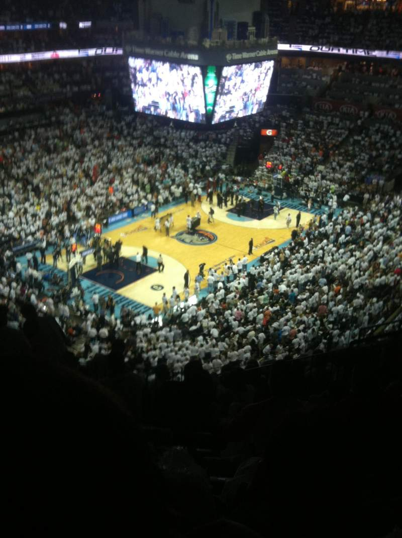 Seating view for Spectrum Center Section 230 Row J Seat 10